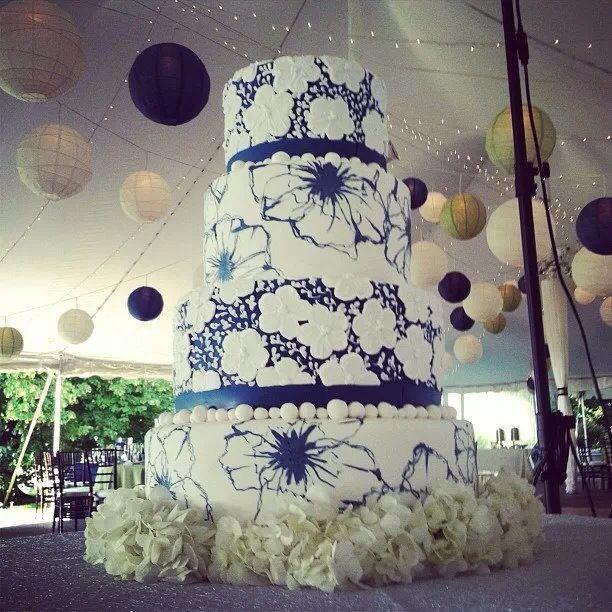 Torta de #bodas #Azul