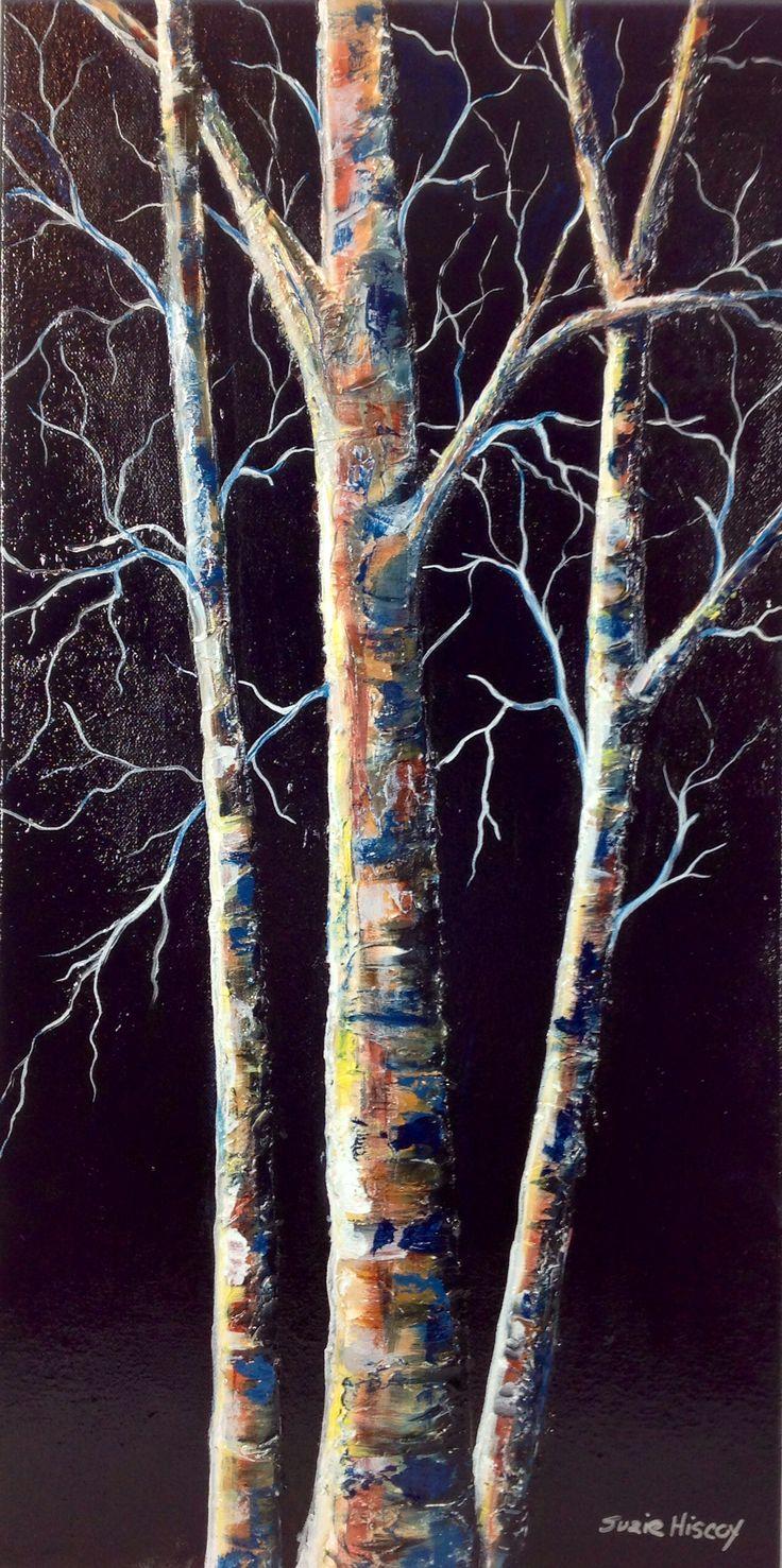 Acrylic painting 'Moonlit' by Suzie Hiscox