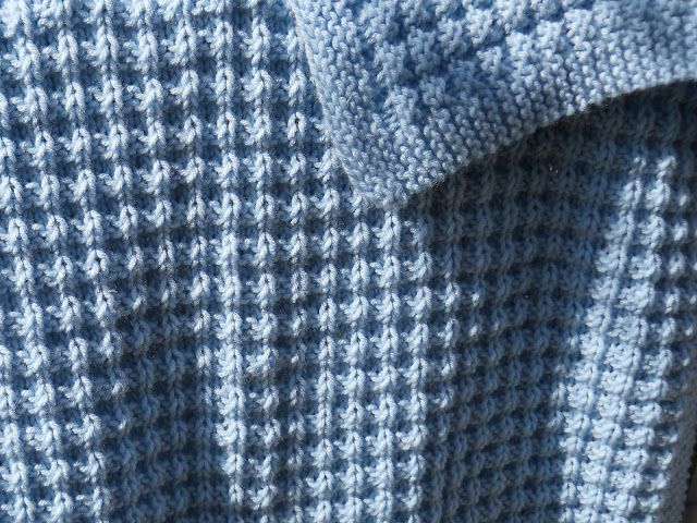 Free Afghan Knitting Patterns Circular Needles : Free Knitting Pattern - Baby Blankets & Afghans: Warm Waffles Baby Blanke...