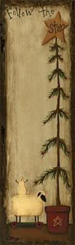 "Primitive "" Follow The Star "" Folk Art Magnetic Notepad | eBay"