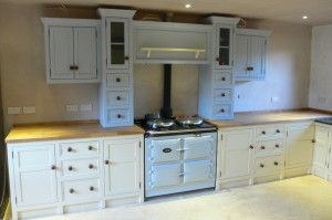 love the pale blue aga with matching top units
