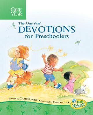 The One Year Book of Devotions for Preschoolers -- My 2 1/2 yr old son and I do this sweet, easy devotional every day.  He really looks forward to it!  The topics make for a great conversation piece and I also write the daily verse on a white board so we can refer to it throughout the day.  Highly recommend for kids 2-5! (Protestant & Catholic versions)