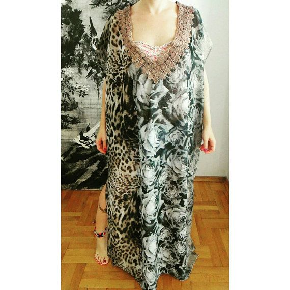 Check out this item in my Etsy shop https://www.etsy.com/listing/220442822/leopard-caftan-chiffon-caftan-beach