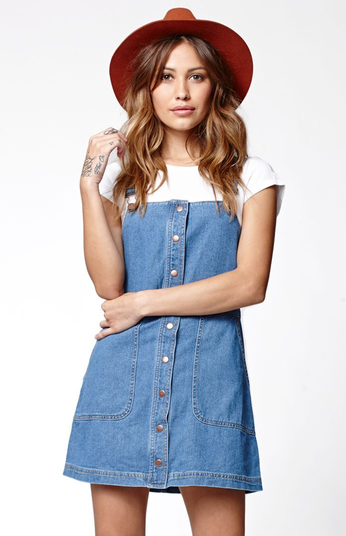 7f4d61f2f9 Button Front Overall Dress