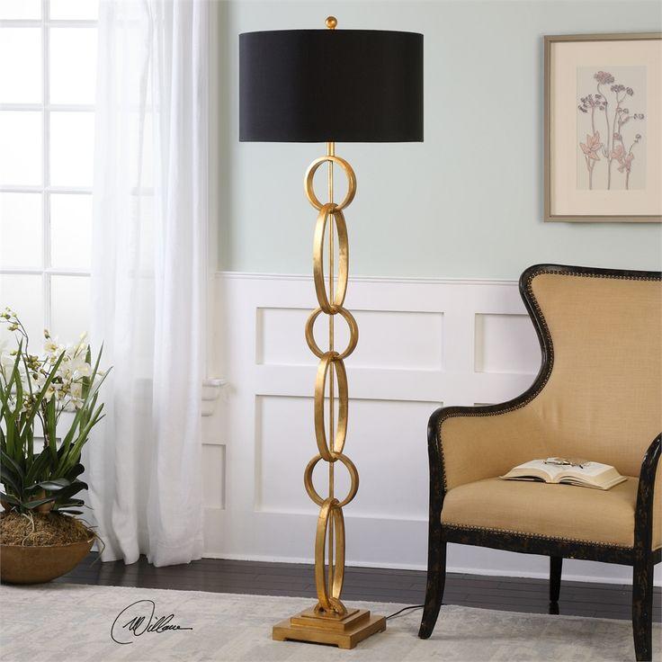 uttermost lovell gold floor lamp - Gold Floor Lamp