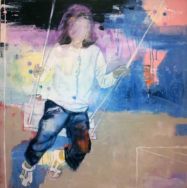HUSKE BY ANNE-BRITT KRISTIANSEN #fineart #art #painting #kunst #maleri #bilde www.annebrittkristiansen.com/anne-britt-kristiansen-kunst-2012