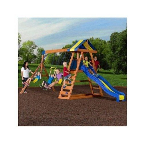 Backyard Swing Set A Big Wooden Complete Set For Outdoor Play Glider Equipment Parts For Boys And Girls Structure Swingsets And Slides Sets On Sale Best Discount Playground Equipment Ground Part By Fortune Bliss Us + Ebook For Kids Parties, 2015 Amazon Top Rated Play & Swing Sets #Toy