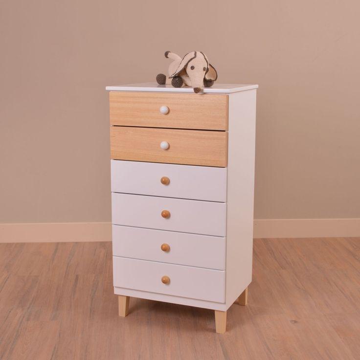 Chifonier Natura de 6 cajones - Directo de Fabrica - Precios On Line! Muebles Infantiles.