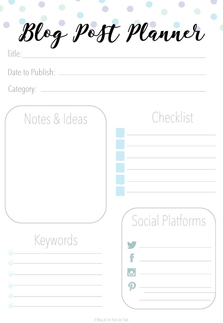 If You are a Social Media Lover & Blogger, This Essential Blogging Kit is just for You! #Printable #Planner #Template