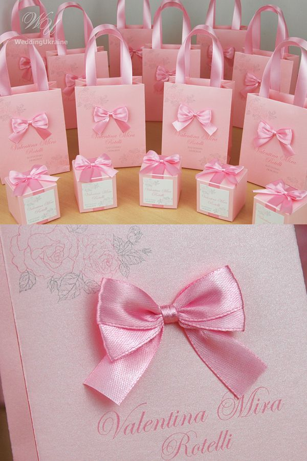 Personalized Baptism Or Birthday Gift Bags For Party Favors