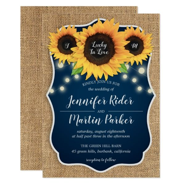 Cheap Rustic Country Navy Blue Wedding Invitations Navy Blue