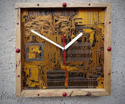 clock made of recycled...