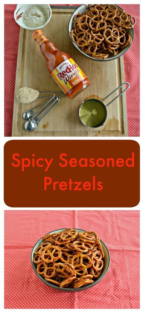 Need a snack while you fire up the grill? Try these Spicy Seasoned Pretzels made with Frank's RedHot! #RedHotSummer #IPTSOE #ad