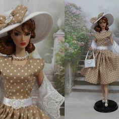 """Robe """" marie-luce """" tenue pour poupée barbie"""