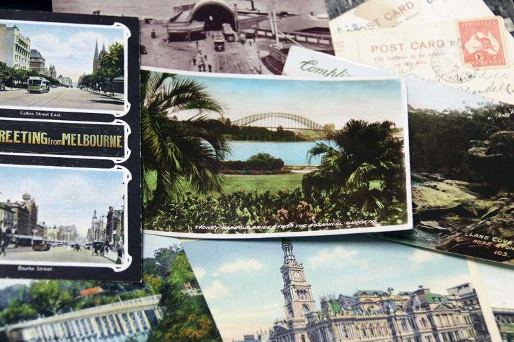 Historic travel postcards