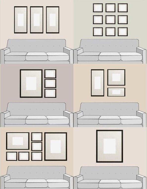 Ideas For Hanging Art Over The Sofa | Karen's Detail Custom Frames | Orange County CA