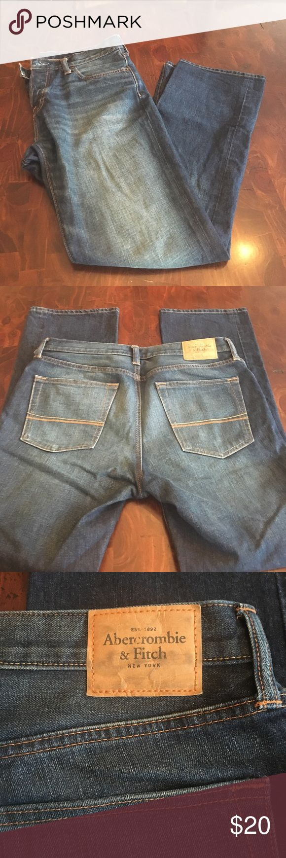 Mens Abercrombie and Fitch Jeans 32x32 Men's Abercrombie and Fitch jeans.  A&F boot style.  Size 32x32. Dark wash.  Button fly. Jeans are in good shape - no rips, stains or holes. Abercrombie & Fitch Jeans Bootcut