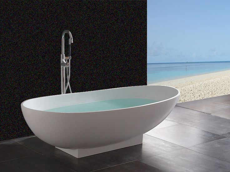 Material Is Solid And The Same Color All The Way Of Tub Has A Matte Finish  That Is Easy To Maintain