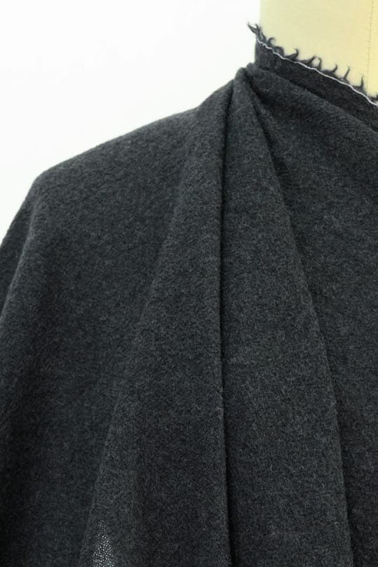 Charcoal Washed Wool Gauze
