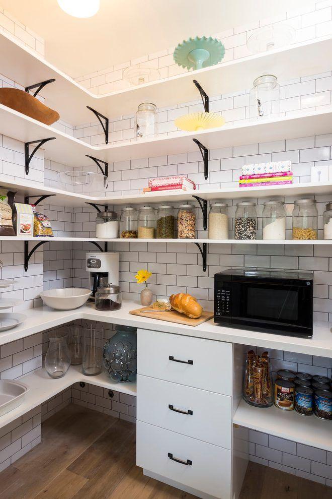 Wire Frame Pantry Shelves Kitchen Transitional With Black Shelf Brackets Modern Multipurpose Cani Kitchen Wall Panels Kitchen Tiles Design Kitchen Inspirations