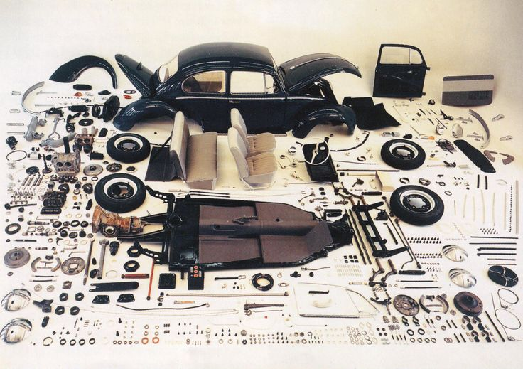 1967 Volkswagen Beetle Exploded View