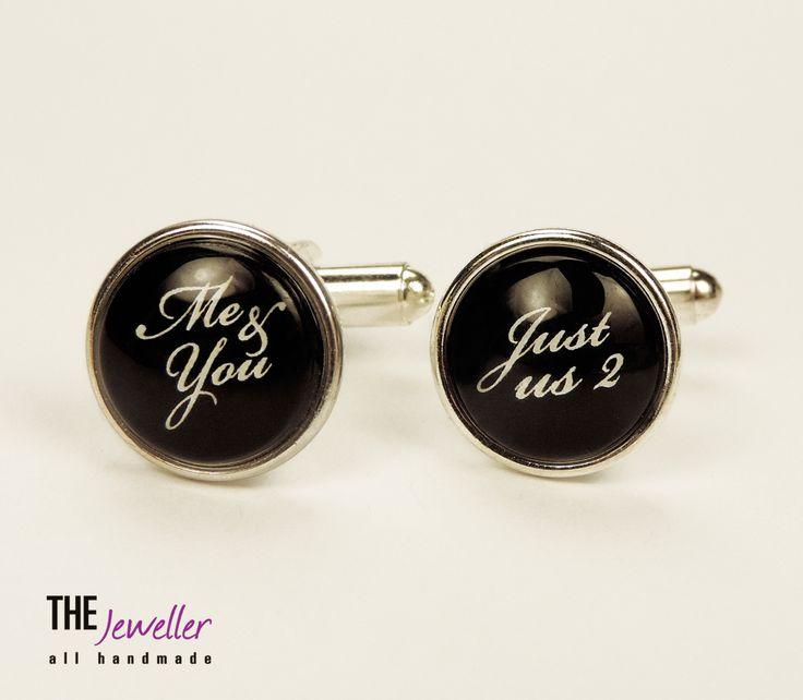 Butoni personalizaţi ME & YOU placaţi cu argint #http://www.pinterest.com/giuliajewellery/