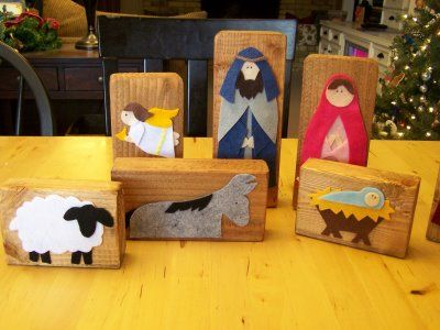 Love this. Love, love, love. I will buy wooden blocks just to make this nativity