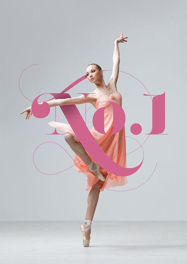 No.1 Dance Studio on Behance in Typographic