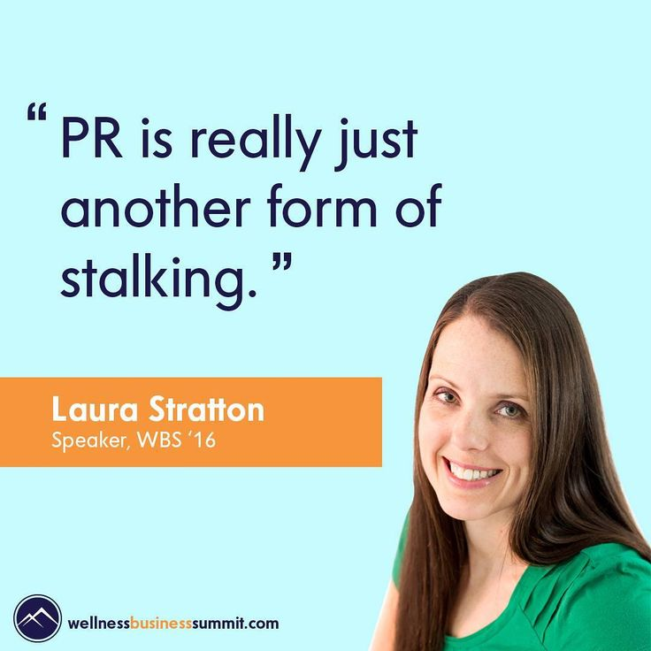 "28 Likes, 3 Comments - The Wellness Business Hub 🌱💻🌱 (@the_wbh) on Instagram: """"PR is really just another form of stalking"" - Laura Stratton, Speaker WBS'16  Well ain't that the…"""