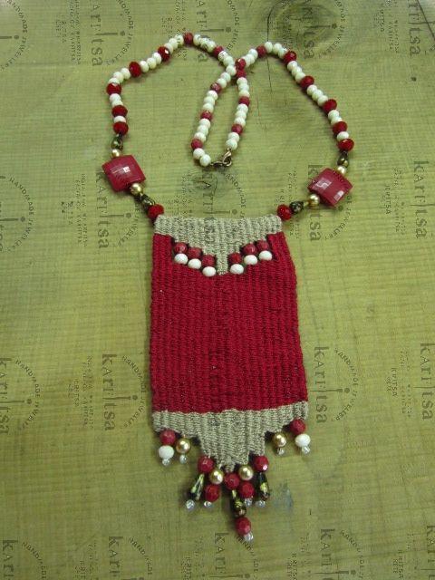 micro weaving necklace