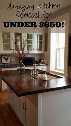 Best 25+ Budget Kitchen Remodel Ideas On Pinterest | Cheap Kitchen Remodel,  Kitchen Reno And Wood Kitchen Countertops