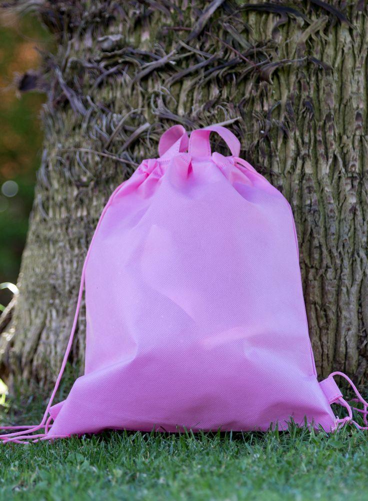 Bolsa ecológica rosada para guardar disfraz Bailarina