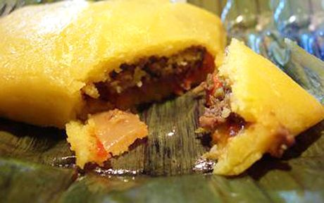 There are a few variations of pastelles. Below is the typical recipe for a traditional Trinidadian dish.