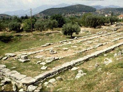 Santuario di Apollo a Thermos. Area riguardante l'ultima fase di costruzione (fine VII secolo a.C.).