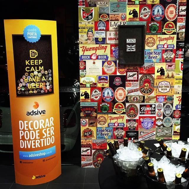 Ai que tudo!!! Pré-lançamento do produto que vem por aí no evento Burger & Beer Night da #euroimportmini ! #mini #Beer #Burger #adsiveshop #beerlabel