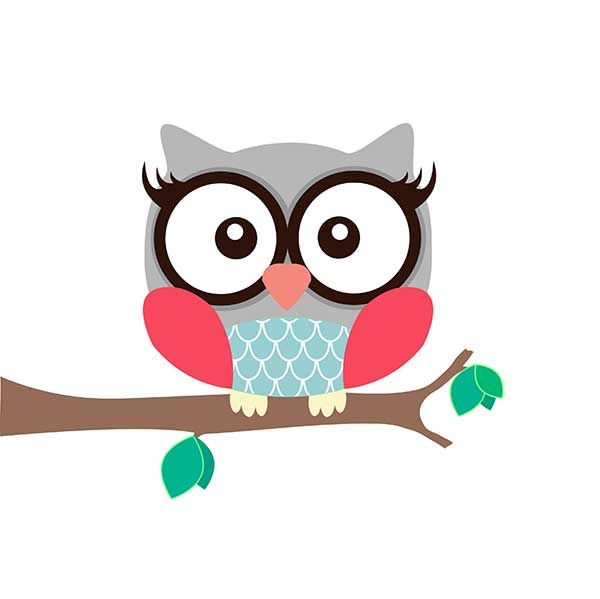Girl Owl Art Print - White | Ruby & Me | Online Shop