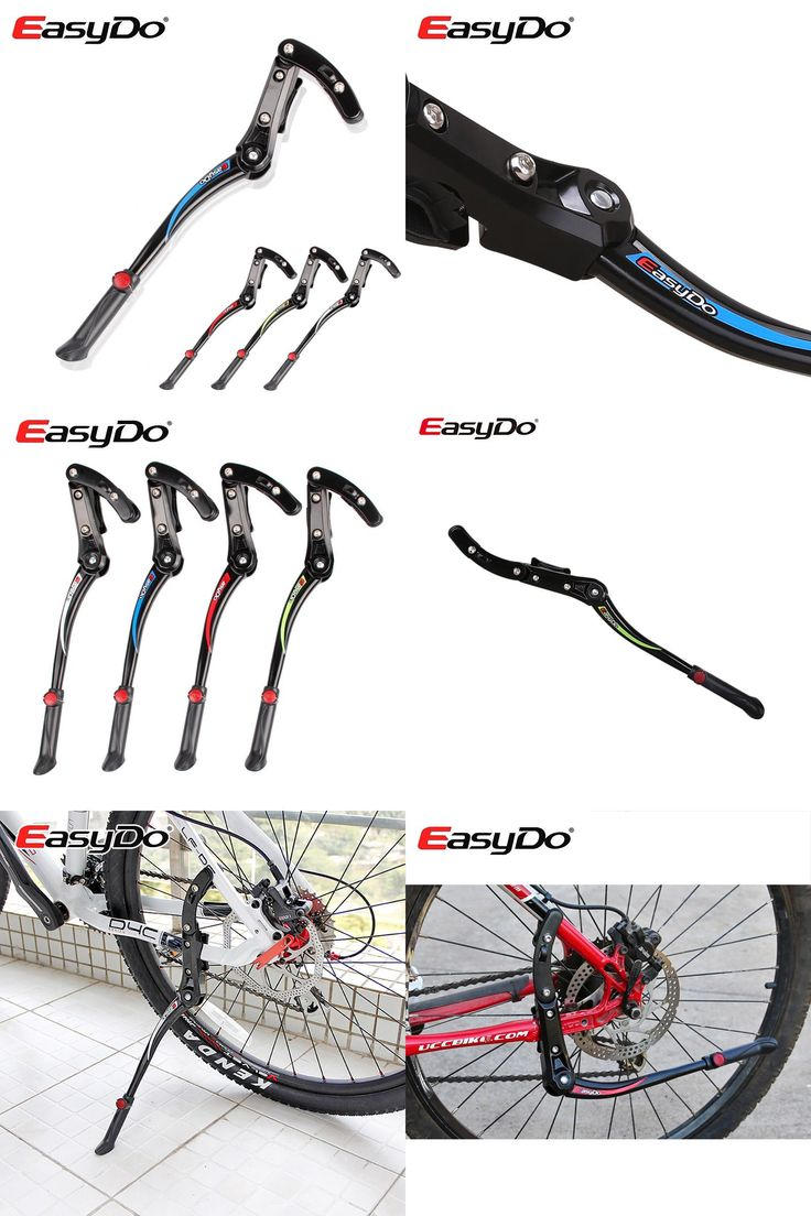 [Visit to Buy] EasyDo Road Mountain Bike Stand Bicycle Rack Parking Side Rear Kick Kickstand Aluminum Alloy Fit For Mtb 24 28 700cc KA-36 #Advertisement