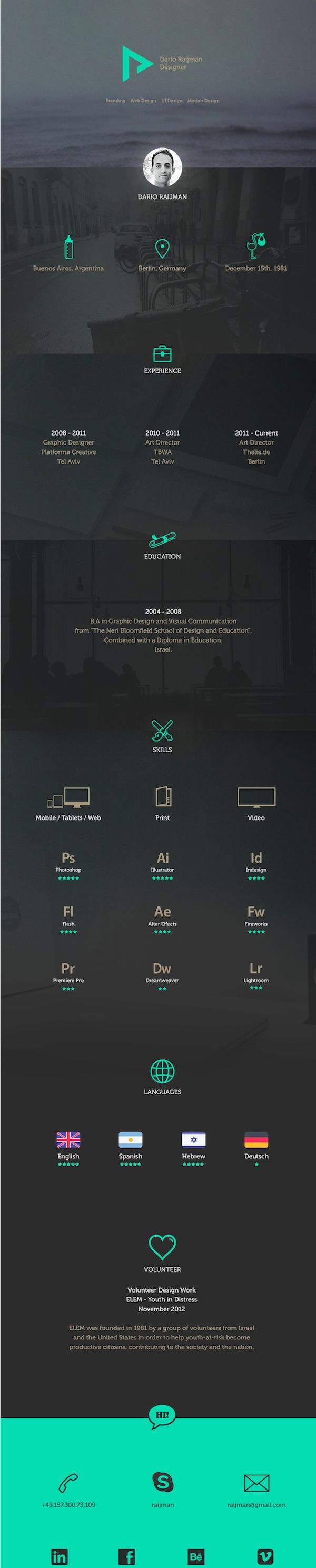 images about cv resume infographic resume creative resume designs 2014