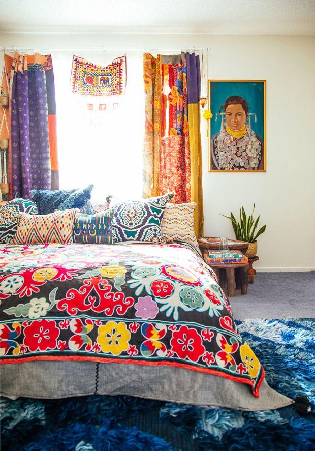 26 Bohemian Living Room Ideas: 현대식 퓨전(보헤미안+정갈로) 인테리어