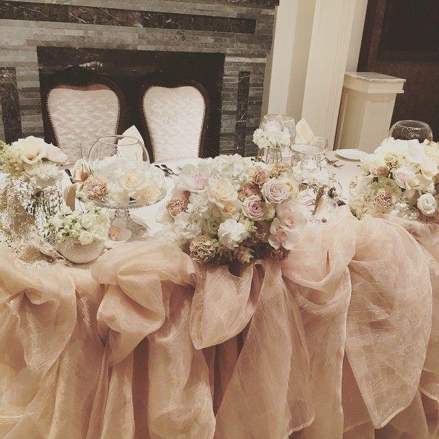 バレエのチュチュのような、ぴったりなメインテーブル♡ #結婚式 #高砂 #バレエ #チュチュ #メインテーブル #コーディネート