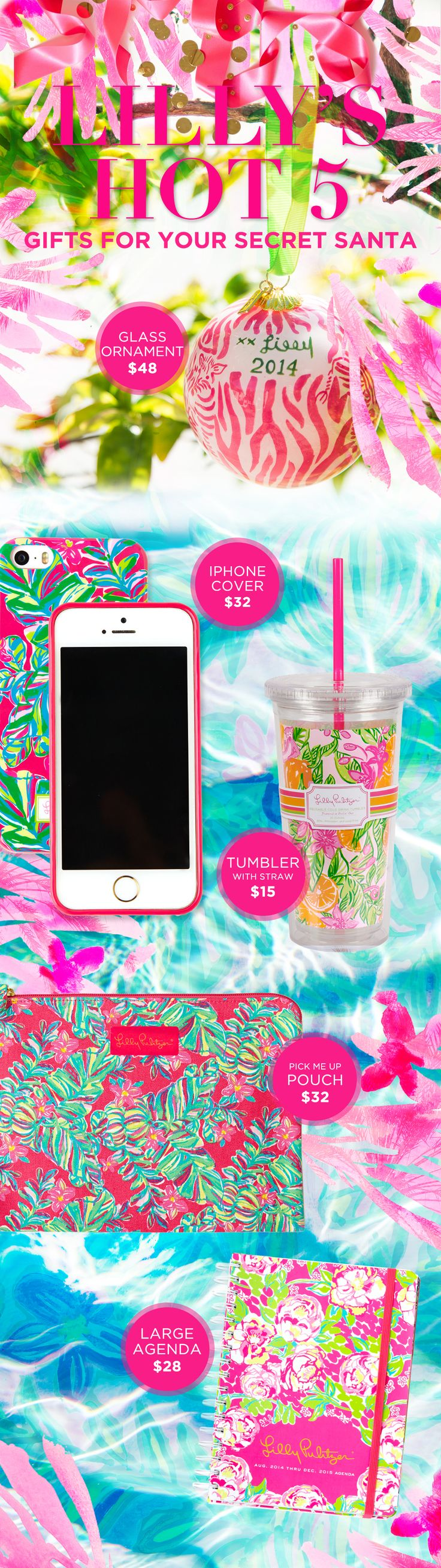 Lilly Pulitzer Gifts for your Secret Santa