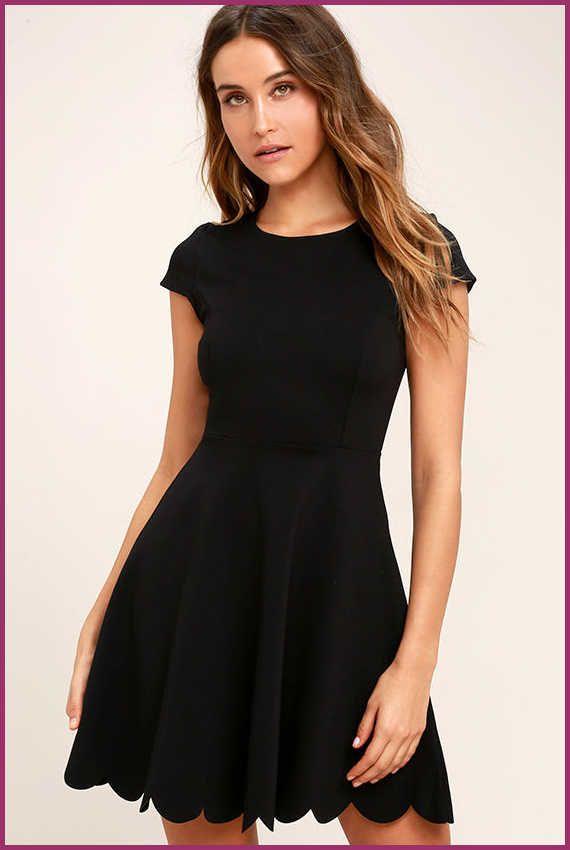 d33970f0257 Cute Black Dress - LBD - Skater Dress - Fit-and-Flare Dress