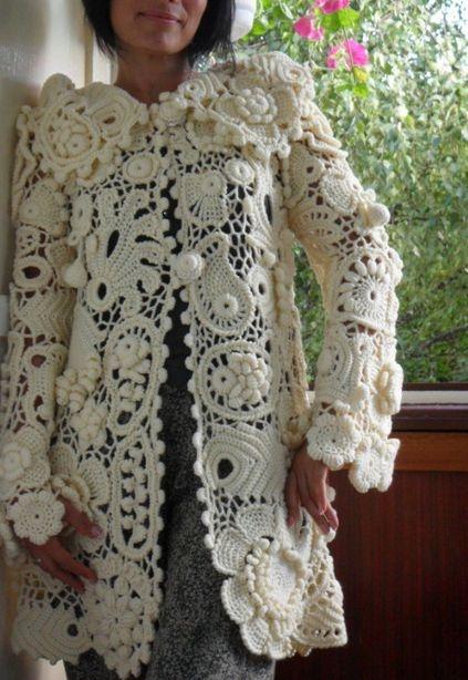 Over the top Irish crochet coat.