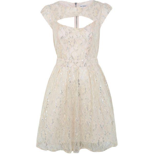 Miss Selfridge Nude Lace Prom Dress ($95) ❤ liked on Polyvore