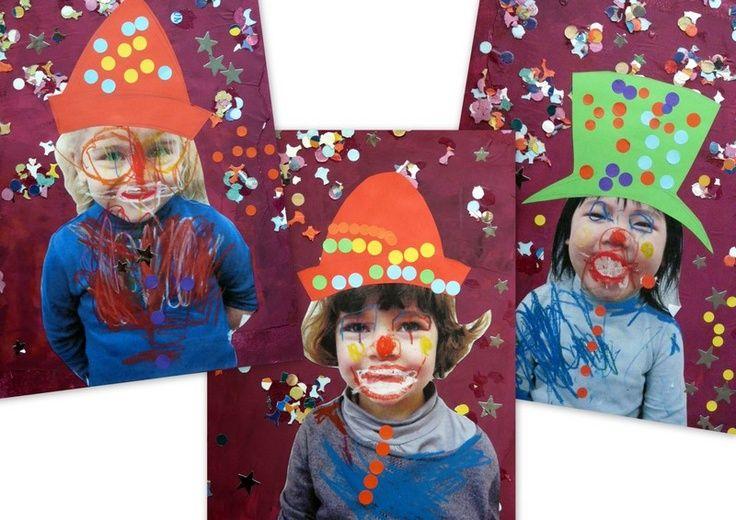 Tapas proyecto escolar sobre el circo. Tapas álbum de clase con fotografías. Portada trabajo infantil sobre el circo
