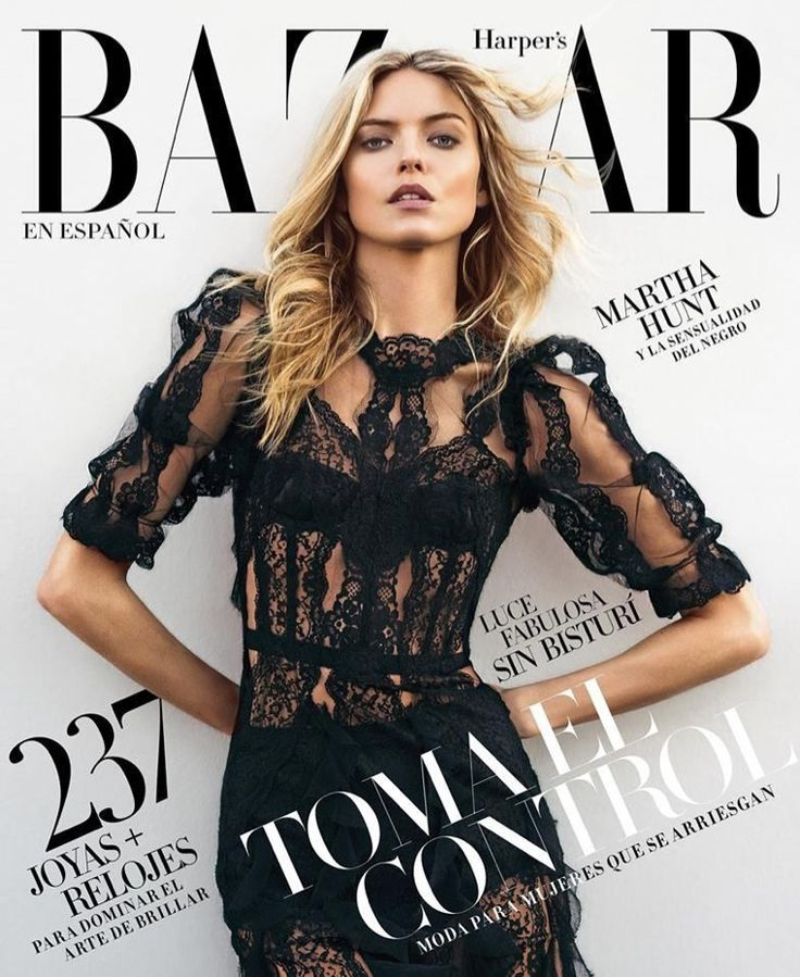 Martha Hunt on Harper's Bazaar Magazine Mexico November 2016 Cover