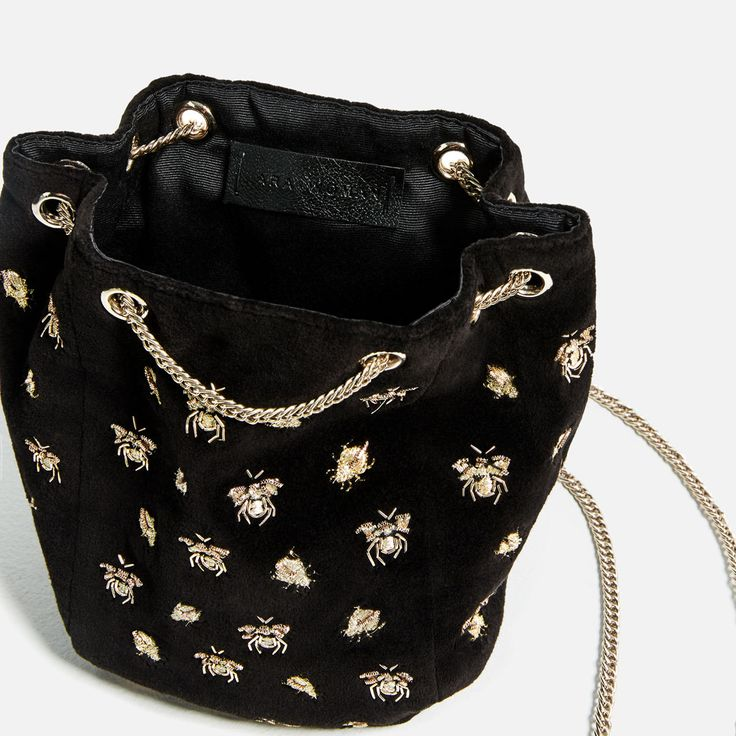 EMBROIDERED BEES BUCKET BAG-View all-BAGS-WOMAN | ZARA United States