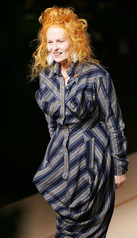 Vivienne Westwood on her catwalk