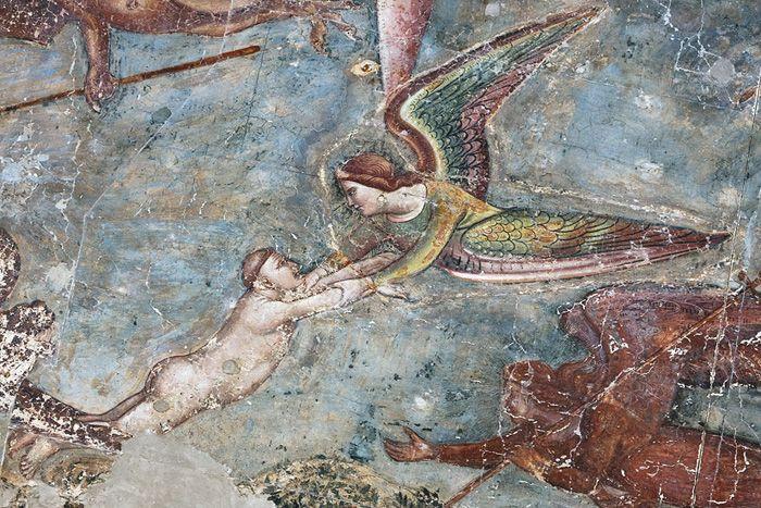 Buonamico Buffalmacco, De triomf van de dood. Fresco in de Camposanto, Pisa |