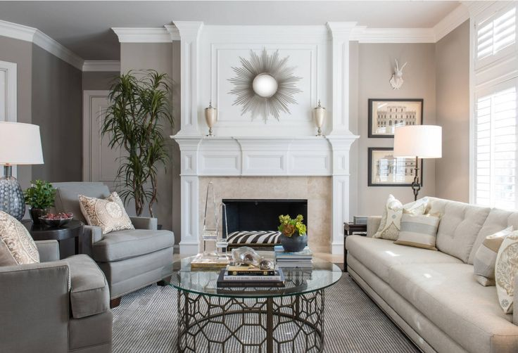 Living Room Furniture Trends 2016. Molded fireplace